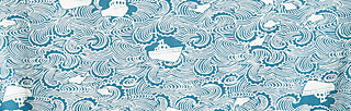 sweet submarine tee, a day at sea, Shirts, Blau