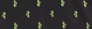 rose of santa fe zip , cute cactus, Jacken, Schwarz