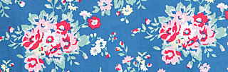 sweethearts washbag, flower over me, Kosmetiktaschen, Blau
