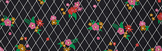 T-Shirt sunshine camp, grid of flowers, Shirts, Schwarz