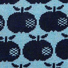 knit blue apple