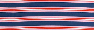 logo stripe t-shirt, majolica blue stripes, Shirts, Blue