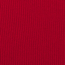 red cosy knit