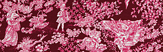 Wickelkleid autumn saloon, toile de romantic, Kleider, Rot