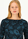 Longsleeve flow slow, romantic review, Shirts, Blau