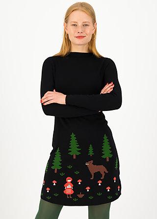 Jumper Dress rotkäppchen stricklizzy, happy ends, Dresses, Black
