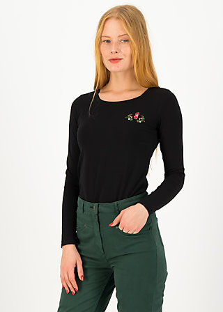 Longsleeve shirt rotkäppchen, just me in black , Shirts, Black