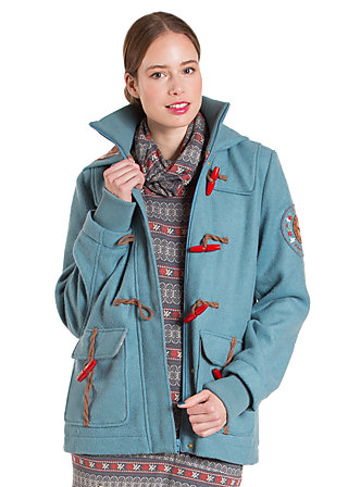 lumberwomans chic coat, alaskan blue, Blau