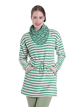 turtle me up longster, thermo stripes, Pullover & Hoodies, Grün