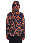 wintercabban wood hoodster, sunset ikat, Schwarz