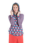 my weekday friend longster, casserole rhombs, Pullover & Hoodies, Blau