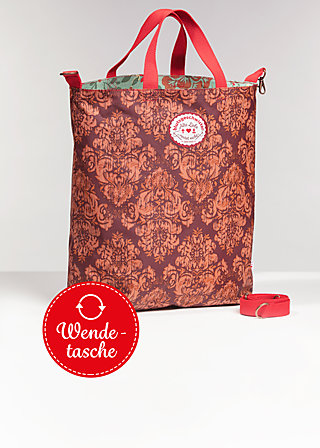beautiful from inside bag, golden tapestry, Shopper & Rucksäcke, Braun