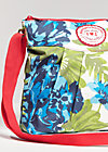 huge heart bag, exotic flower, Handtaschen, Blau