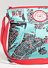huge heart bag, new york, Handtaschen, Blau