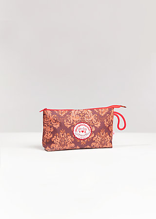 sweethearts washbag, golden tapestry, Accessoires, Braun