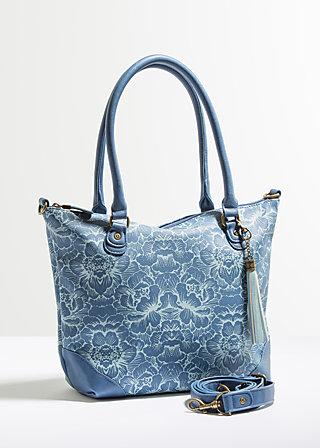 sirkeci souvenir boho bag, wild wind rose, Handtaschen, Blau