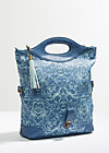 tea time bag, wild wind rose, Handtaschen, Blau