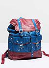 palatschinken daypack, swarm of swallow, Reisetaschen, Blau