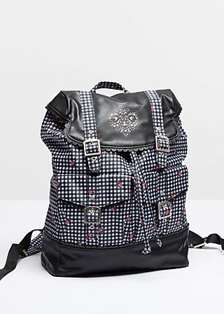 palatschinken daypack, antoinettes picnic, Reisetaschen, Schwarz