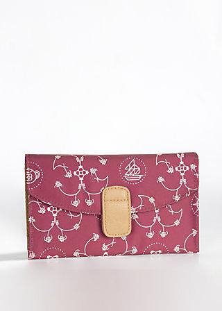 piroshkas peace purse, royal dishes, Portemonnaies, Rot