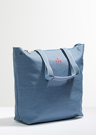 kötbullar shopper, faded denim, Handtaschen, Blau
