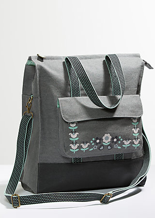 lucias lovely carryall, cloudy grey, Reisetaschen, Grau