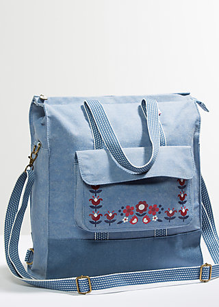 lucias lovely carryall, faded denim, Reisetaschen, Blau