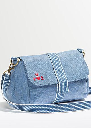 punschrullar, faded denim, Handtaschen, Blau