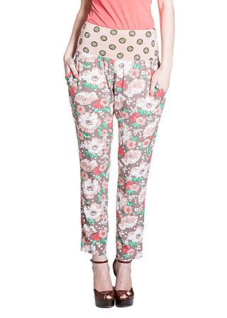 graceful gardenpants, spring flowers, Hosen, Braun