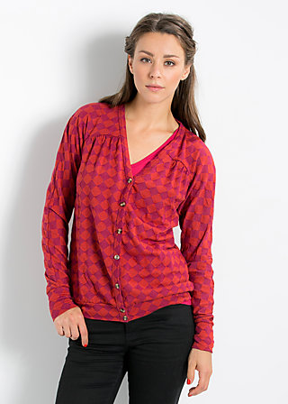 luminous lantern cardy, mysterious checkerboard, Cardigans, Rot