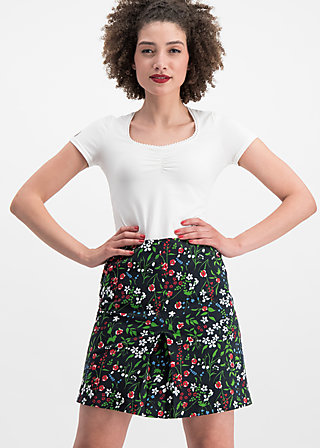 alltagsfalter skirt, poppy field, Skirts, Black