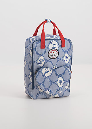 big lovepack, bird frame , Shopper Bags & Backpacks, Blau