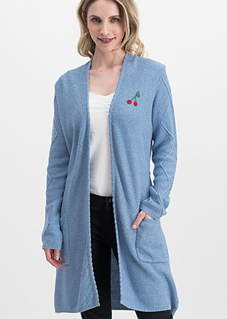 cherry lady cardycoat, blue cherry, Pullover & leichte Jacken, Blau