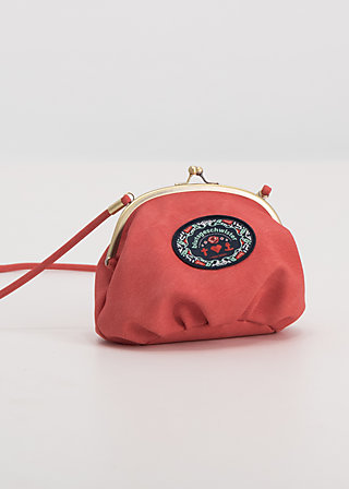 dance the night away clipper, coral leather, Handtaschen, Rot