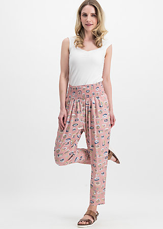 High-Waist-Hose daydream streetlife, secret spuce, Hosen, Rosa