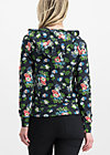 enchanging everyday zip, vagabund flowers, Pullover & leichte Jacken, Schwarz
