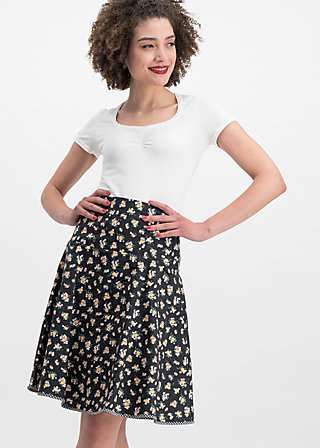 hip am schnuerchen skirt, flower your block, Skirts, Black