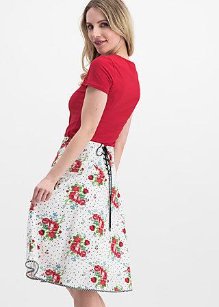 hip am schnuerchen skirt, vagabunch, Röcke, Weiß