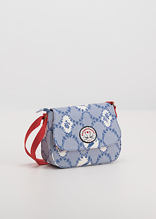 lean on my shoulderbag, bird frame , Accessoires, Blue
