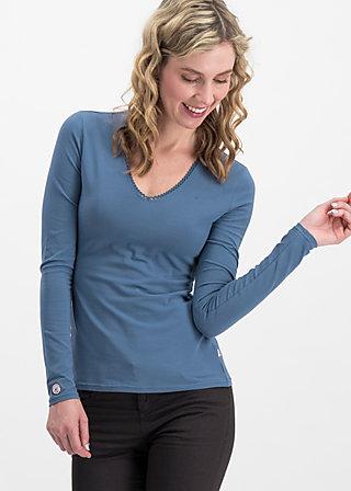 logo longsleeve v-neck uni, blue skyline, Shirts, Blau