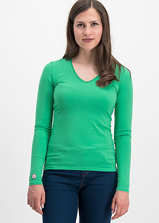 logo longsleeve v-neck uni, green street, Shirts, Green
