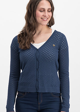 logo loving heart cardy, dark blue hay, Jumpers & lightweight Jackets, Blue