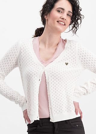logo loving heart cardy, white hay, Jumpers & lightweight Jackets, Weiß