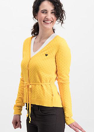 logo loving heart cardy, yellow hay, Jumpers & lightweight Jackets, Gelb