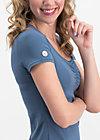 logo shortsleeve feminin uni, blue skyline, Shirts, Blau