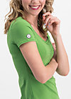 logo shortsleeve feminin uni, green light, Shirts, Grün