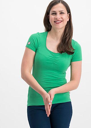 logo shortsleeve feminin uni, green street, Shirts, Grün