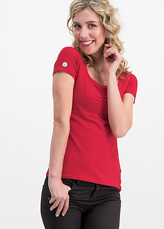 logo shortsleeve feminin uni, red light, Shirts, Rot