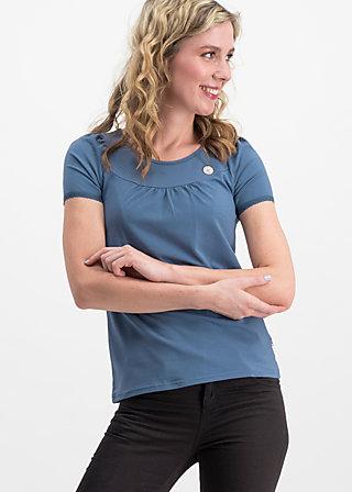 logo shortsleeve leisure  uni, blue skyline, Shirts, Blau