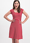 logo stripe dress, date stripe, Kleider, Rot